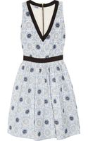 Moschino Cheap & Chic Embroidered Poplin Dress - Lyst