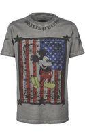 Philipp Plein Mickey Mouse Printed Tshirt - Lyst