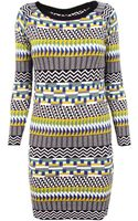 Thomas Sires Fair Isle Sweater Dress - Lyst