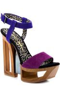 Jessica Simpson Tanya Wisteria Combo Suede - Lyst