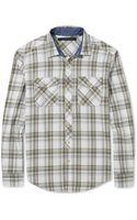 Sean John Open Twill Check Shirt - Lyst