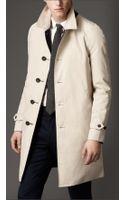 Burberry Reversible Cotton Gabardine Car Coat - Lyst