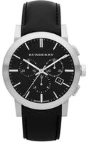 Burberry Mens Chronograph Watch with Black Leather Strap - Lyst