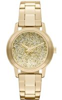 DKNY Goldtone Stainless Steel Watch with Glitz Pebble Dial - Lyst
