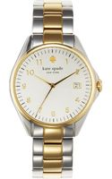 Kate Spade Ladies Twotone Seaport Grand Watch - Lyst