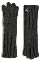 Lauren by Ralph Lauren Long Ribbed Cuff Knit Gloves - Lyst