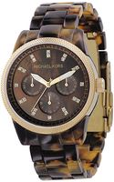 Michael Kors Tortoise Shellcolored Bracelet Watch - Lyst