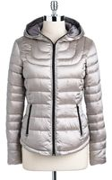 Bernardo Iridescent Quilted Down Jacket - Lyst