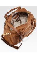 MICHAEL Michael Kors Bedford Ostrichembossed Bowling Satchel - Lyst