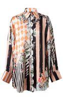 Balmain Baroque Floral Printed Silk Shirt - Lyst