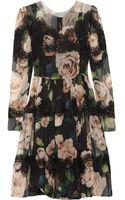 Dolce & Gabbana Floral Print Silk-blend Dress - Lyst