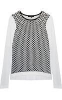 Tibi Sporty Mesh Easy Sweater - Lyst