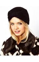 Asos Knitted Turban Hat - Lyst