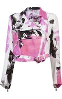 Christopher Kane Silk Biker Jacket - Lyst