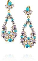Kenneth Jay Lane Gold-plated Cabochon Clip Earrings - Lyst