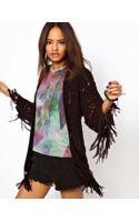 ASOS Collection Kimono Cardigan in Tape Yarn - Lyst