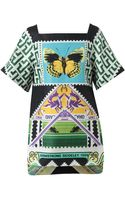 Mary Katrantzou Stamp Printed Hessian Tunic Top - Lyst