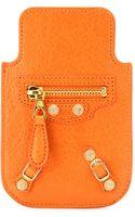 Balenciaga Giant Leather Iphone Case - Lyst