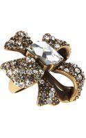Oscar de la Renta Bow Ring - Lyst