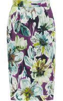 D&G Floralprint Silkchiffon Skirt - Lyst