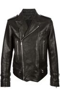 Balmain Distressed Biker Jacket - Lyst