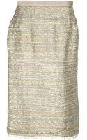Oscar de la Renta Tweed Skirt - Lyst