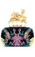 Alexander McQueen Hummingbird Embroidered Box Clutch - Lyst