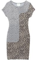 Sea Animal Jacquard Combo Leopard Sheath Dress - Lyst