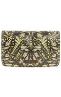 McQ by Alexander McQueen Neon Butterfly Camouflage Mcq Plaque Clutch - Lyst