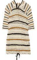 Etoile Isabel Marant Clay Hooded Striped Openknit Cotton Dress - Lyst