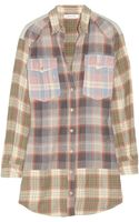 Etoile Isabel Marant Meg Plaid Cottonblend Shirt Dress - Lyst
