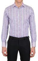 Etro Paisley Jacquard Striped Cotton Shirt - Lyst