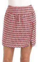 Moschino Textured Checked Skirt - Lyst