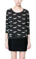 Zara Bones Sweatshirt - Lyst