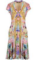 Roberto Cavalli Embellished Fringe Dress - Lyst
