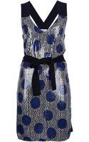 Sonia By Sonia Rykiel Polka Dot Sequin Dress - Lyst
