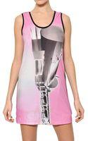 Pedro Lourenco Printed Cotton Jersey Tank Dress - Lyst
