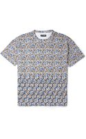 Raf Simons Flower and Fence Print Cotton Jersey T-Shirt - Lyst