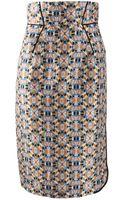Schumacher Highwaist Print Fun Skirt - Lyst