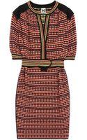 M Missoni Belted Cottonblend Dress - Lyst