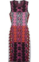 M Missoni Cutout Knitted Cottonblend Dress - Lyst
