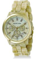 Michael Kors Hornstyle Acrylic Chronograph Watch - Lyst