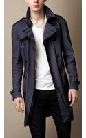 Burberry Brit Midlength Contrast Lining Trench Coat - Lyst