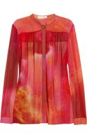 Matthew Williamson Printed Silk Crepe Blouse - Lyst