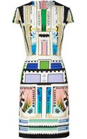 Mary Katrantzou Mulicolored Printed Silk Heavy Crepe Sorbonne Dress - Lyst