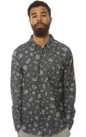 Obey The Dharma Buttondown in Blue - Lyst
