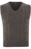 Polo Ralph Lauren Cable Knit Wool Vest - Lyst