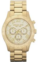 Michael Kors Mens Gold Chronograph Watch - Lyst