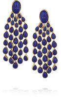 Aurelie Bidermann Cherokee Goldplated Lapis Lazuli Earrings - Lyst