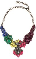 L'inde Le Palais Jewel Embroidered Necklace - Lyst